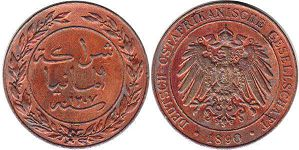 coin German East Africa 1 pesa DEUTSCH OSTAFRIKANISCHE
