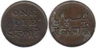 coin Bengal Presidency 1 pai without date (1831-1835)