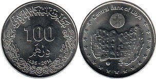 coin Libya 100 dirhams 2014