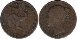 coin Isle of Man farthing 1839