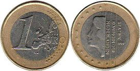 coin Netherlands 1 euro 1999