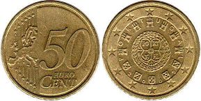 coin Portugal 50 euro cent 2009