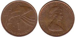 coin Saint Helena and Ascension 1 penny 1984
