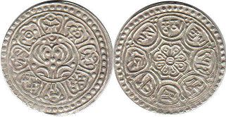coin Tibet 1 tangka ND (1907-25)