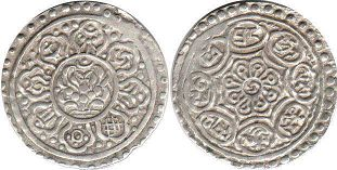 coin Tibet 1 tangka ND (1888)