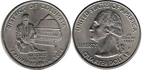 coin US commemorative coin 1/4 dollar 2009 state quarter Columbia