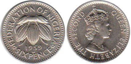 Nigeria - online free coins catalog with photos and values  Nigerian