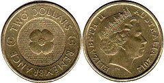 australian commemmorative coin 2 dollars 2012