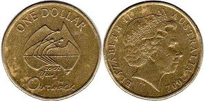 australian commemmorative coin 1 dollar 2002