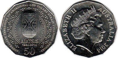 australian commemmorative coin 50 cents 2014