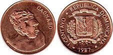 coin Dominican Republic 1 centavo 1987