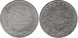 coin Egypt 5 qirsh 1898