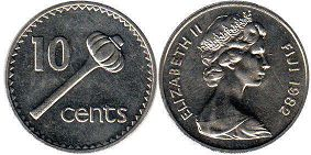 coin Fiji 10 cents 1982