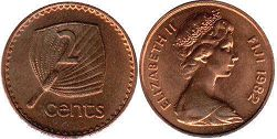 coin Fiji 2 cents 1982