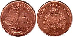 coin Gambia 5 bututs
