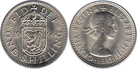 coin UK coin 1 shilling 1966