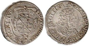 coin Oettingen 6 kreuzer 1675