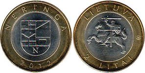 coin Lithuania 2 litai 2012