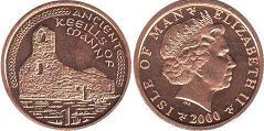 coin Isle of Man 1 penny 2000
