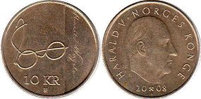 coin Norway 10 kroner 2008