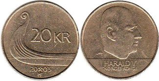 coin Norway 20 kroner 2003