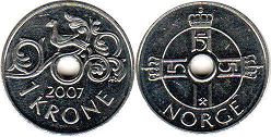 coin Norway 1 krone 2007
