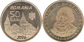 coin Romania 50 bani 2016