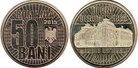 coin Romania 50 bani 2015