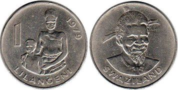 coin Swaziland 1 lilangeni 1979