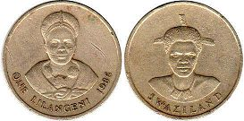 coin Swaziland 1 lilangeni 1986