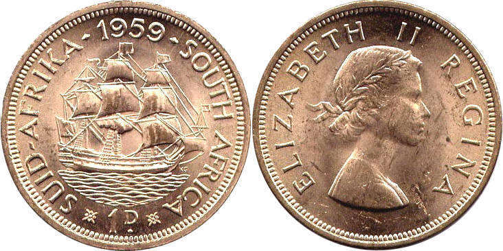 South Africa - online free coins catalog with photos and