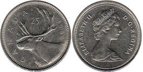 canadian coin 25 cents 1984