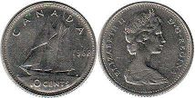 canadian coin 10 cents 1968