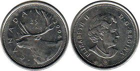 canadian coin 25 cents 2006