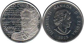coin canadian commemorative coin 25 cents 2013