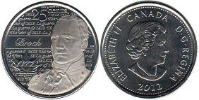 coin canadian commemorative coin 25 cents 2012