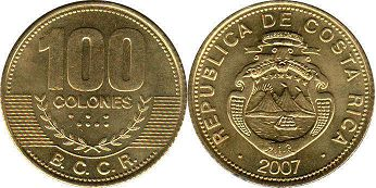 coin Costa Rica 100 colones 2007
