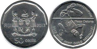 coin Fiji 50 cents 2013