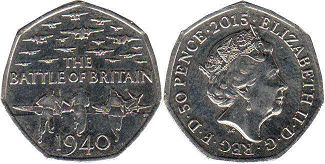 coin UK coin 50 pence 2015