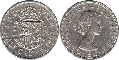 coin UK coin 1/2 crown 1963
