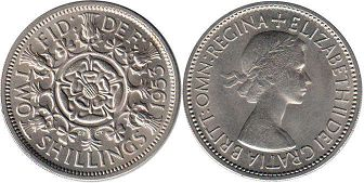 coin UK coin 2 shillings 1953