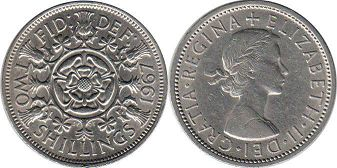 coin UK coin 2 shillings 1967