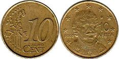 coin Greece 10 euro cent 2002