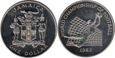 coin Jamaica 1 dollar 1982