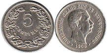 coin Luxembourg 5 centimes 1908