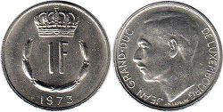 coin Luxembourg 1 franc 1973