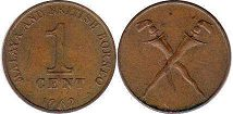 coin Malaya 1 cent 1962