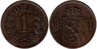 coin Norway 1 ore 1876