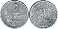 coin Poland 2 grosze 1949