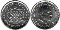 coin Sierra Leone 5 cents 1984